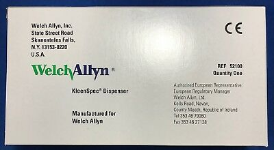 Welch Allyn Universal Kleenspec Dispenser - Reference 52100 - New