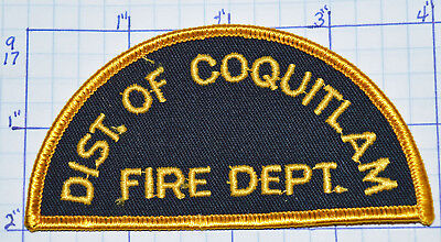 CANADA, DISTRICT OF COQUITLAM FIRE DEPT BRITISH COLUMBIA GOLD EDGE PATCH