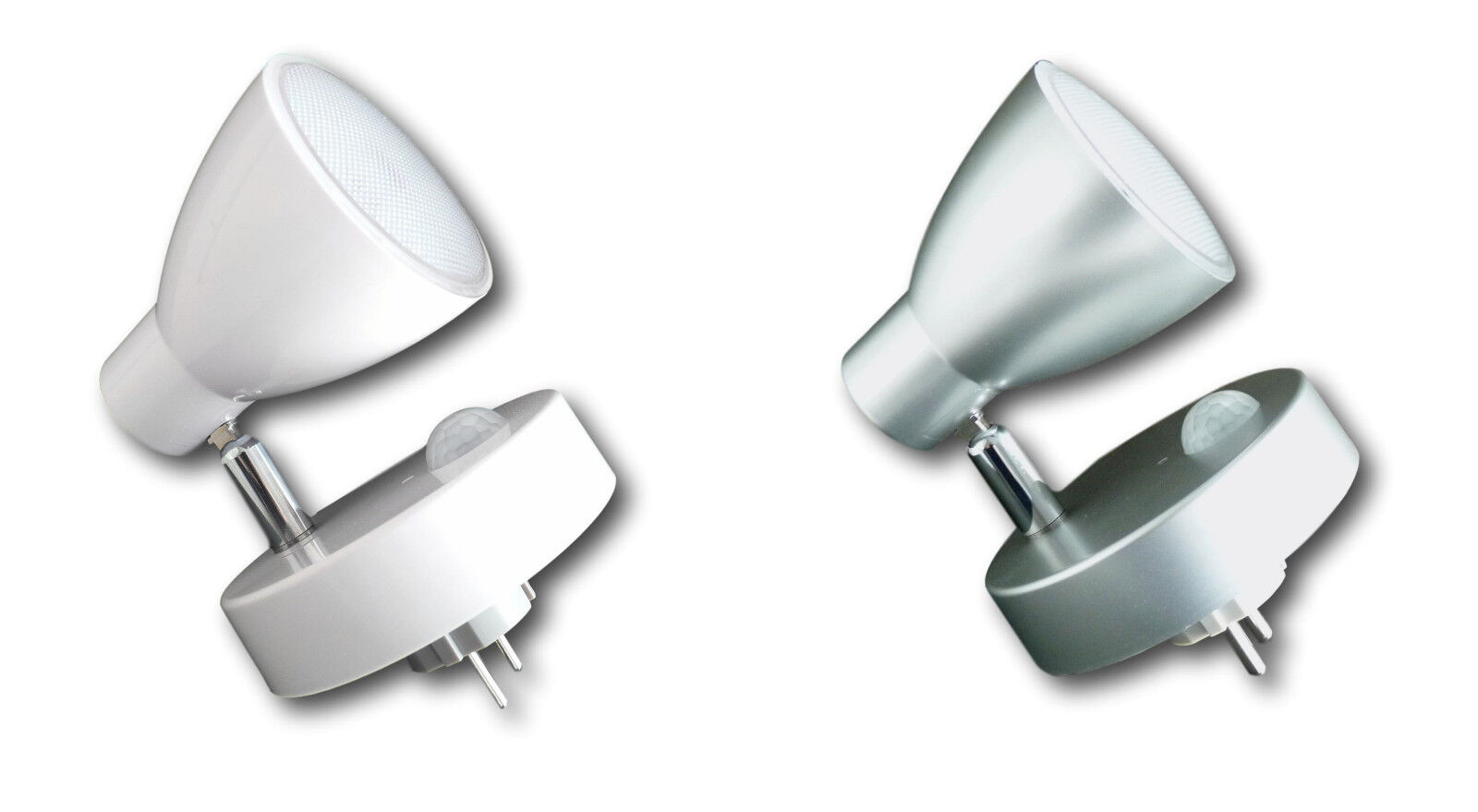 Grundig LED Steckdosen-Lampe Wandlampe Licht Spot Beleuchtung schwenkbar 7 Leds