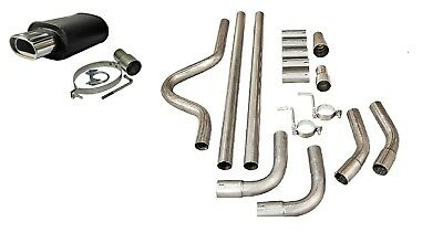 PEUGEOT SPORTS UNIVERSAL FULL CAT BACK EXHAUST BACK BOX SYSTEM PIPE KIT 002+2