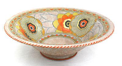 Charlotte Rhead Bowl Pedestal Rhodian Pattern 3272 Shape 164 Gilt Floral