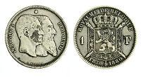 Pcc1814_4) Belgio 1 Franco 1880 Leopoldo Ii° - Toned -  - ebay.it