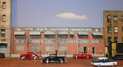 #330 O scale background building flat  R.C.A. RUBBER    *FREE SHIPPING*