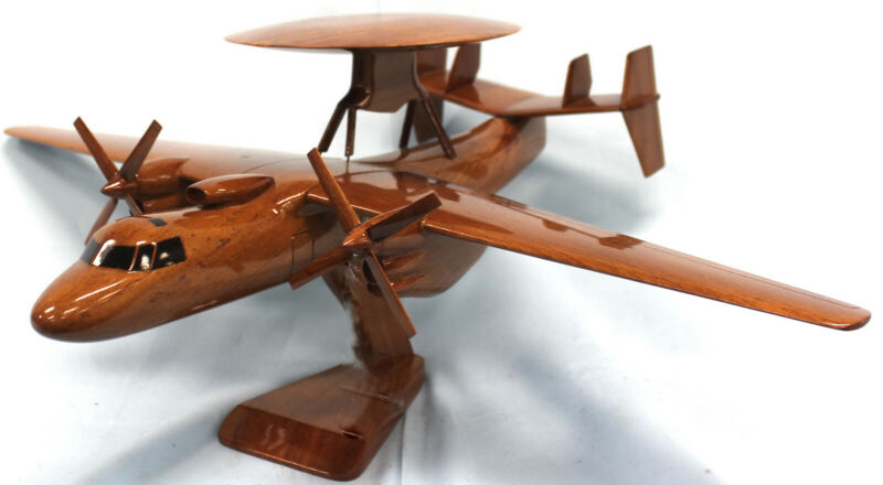 E2C Hawkeye Wooden Model Airplane Mahogany-W- Personalized Plaque