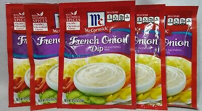 5-PACK McCormick French Onion Dip Seasoning Mix Packet .53 oz Each Spices Veggie