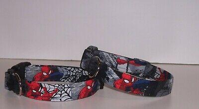 Wet Nose Designs Urban Spiderman Dog Collar Skyline Webs Superhero Marvel Comics - Superhero Dog Collars