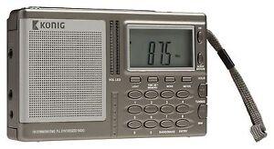 World Band Receiver Portable Digital Radio AM/FM/SW/MW/LW PLL Radio Alarm Clock
