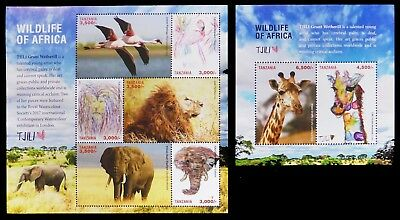 TANZANIA 2018 Africa Wildlife TJILI M/Sheets (2) See her History and Art