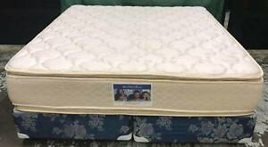 Excellent Pillow Top King Size mattress with base. Delivery avail