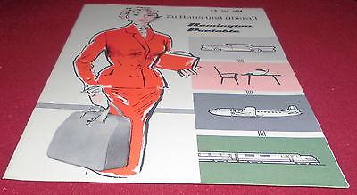 prospekt faltblatt remington frankfurt portable schreibmaschine alt reklame 1958