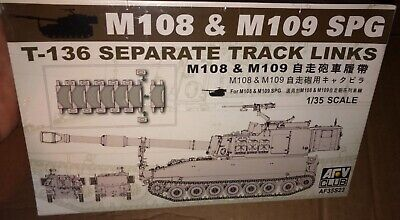 AFV Club M108 M109 SPG T-136 Separate Track Links 1/35 FS 'Sullys Hobbies'