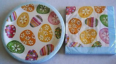 EASTER Paper Plates and Luncheon Napkins  SPRING EGG - Easter Plates And Napkins