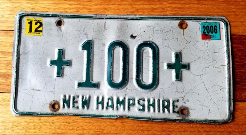 Rare New Hampshire license plate +100+ hospital Hearst ambulance 1970