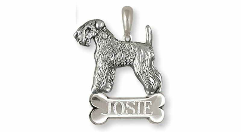 Soft Coated Wheaten Terrier Jewelry Sterling Silver Handmade Wheaten Pendant  SC