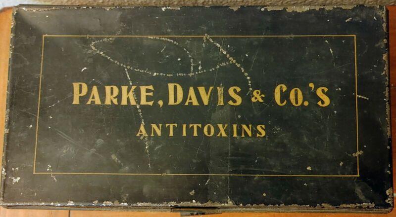 Antique Tin Advertising Box- Parke, Davis & Co