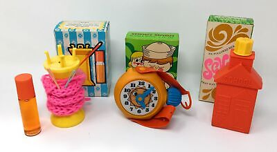 Vintage Avon lot (1970's) Spool-a-Doo, Schoolhouse, Wrist Wash