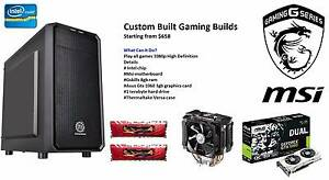 CUSTOM COMPUTERS 4U (For Honor or Ghost Recon Wildlands, FREE) Wooloowin Brisbane North East Preview
