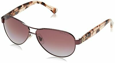 Ralph by Ralph Lauren Women's 0ra4096 Polarized Aviator Sunglasses, ROSE, (Ralph Lauren Women's Aviator Sunglasses)