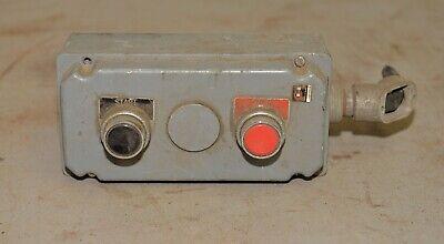 Cutler Hammer Push Button Switch Walker Turner Drill Press Collectible Part