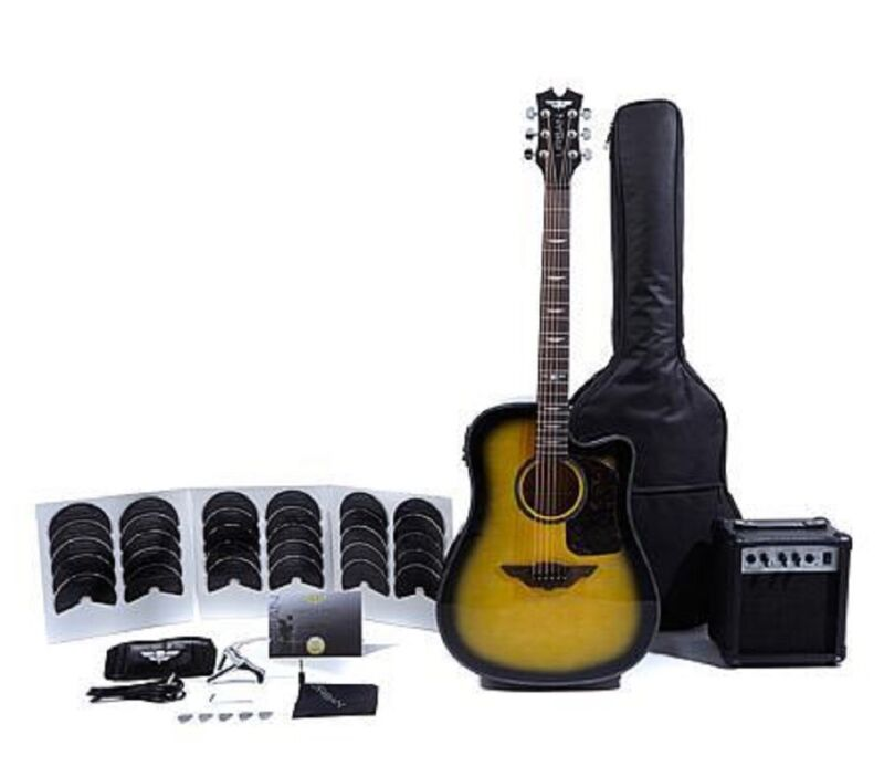 Keith Urban Acoustic Electric Guitar Ripcord 40pc Brazilian Burst RightHanded