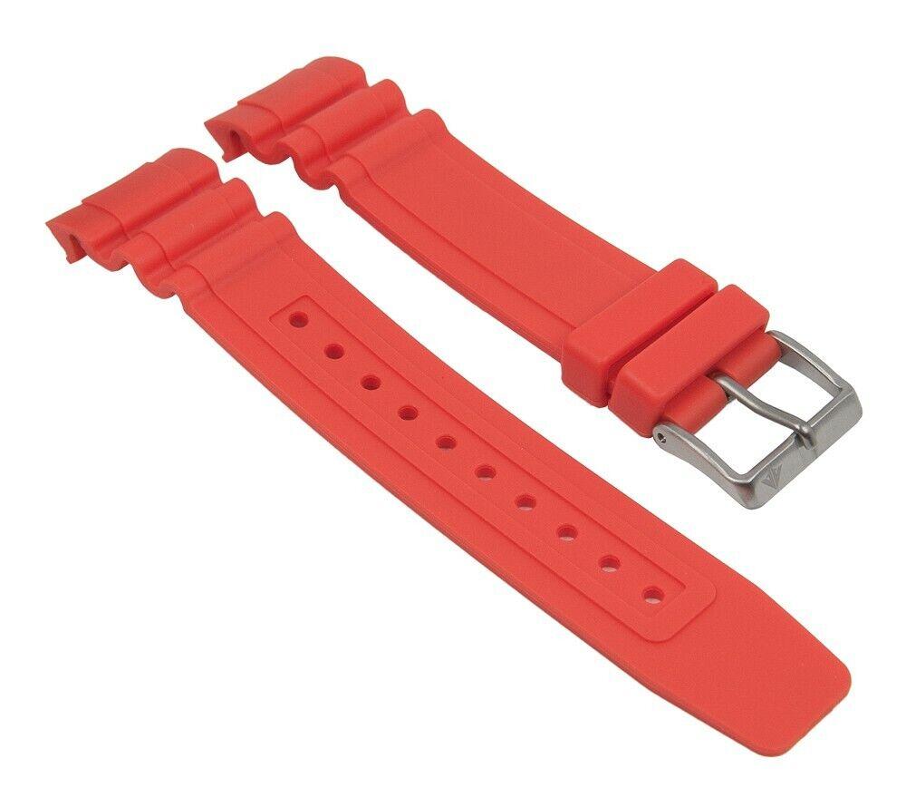 Ersatzband Kunststoff orange passend zu Citizen Promaster Taucheruhr BN0100