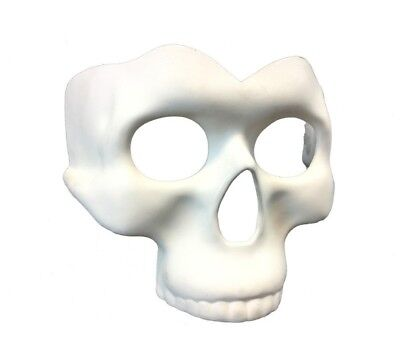 White Paint Your Own Skull Half Mask Adult Mens Womens Costume Accessory DIY (Halloween Costumes Diy For Women)