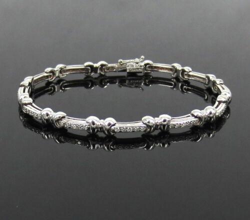 Gerard 0.75ct De Vs Perfect Cut Diamond 18k White Gold Bow Tie Tennis Bracelet