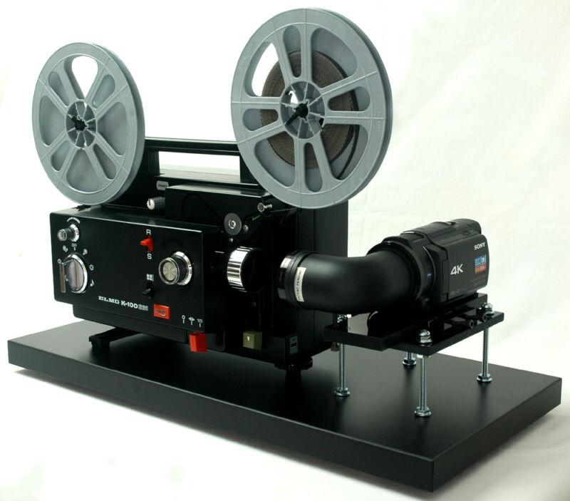 Elmo Movie Projector Video Transfer Unit Dual 8 Built-In Sony 4K UHD Camera