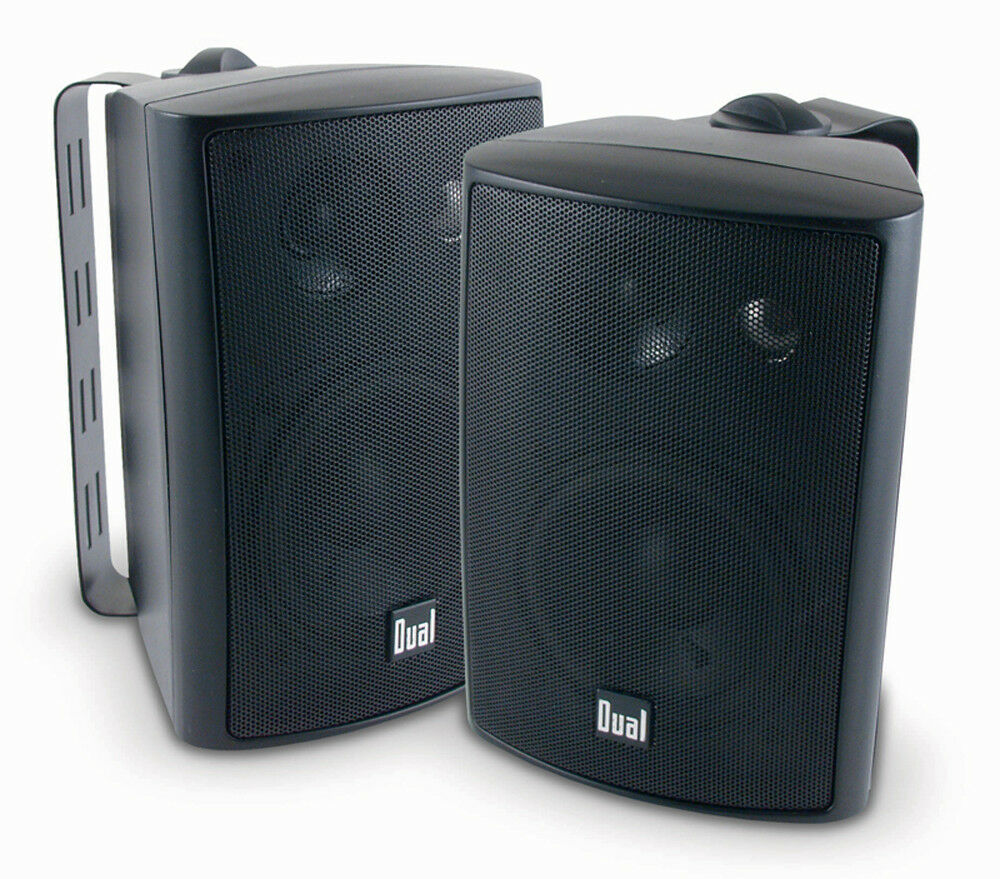 Dual 200 Watts Weather Resistant Indoor/Outdoor 3-Way Speake