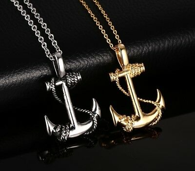 Anchor Nautical Sailor or Peace Sign Hippie Pendant Necklace Jewelry For Men](Mens Hippie Jewelry)