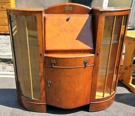 Vintage mahogany writing bureau