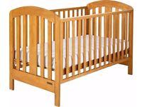 Mamas & Papas Vico Cot Bed Junior Bed Wooden with Mattress