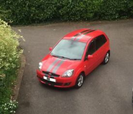 2008 '08' Ford Fiesta MK6 1.25 Zetec Climate 5 Door Hatch Service History MOT Red Edition Interior