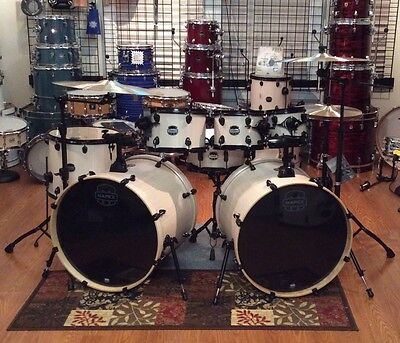 Mapex Mars 7 Piece Double Bass Drum Set W Hardware Shirt