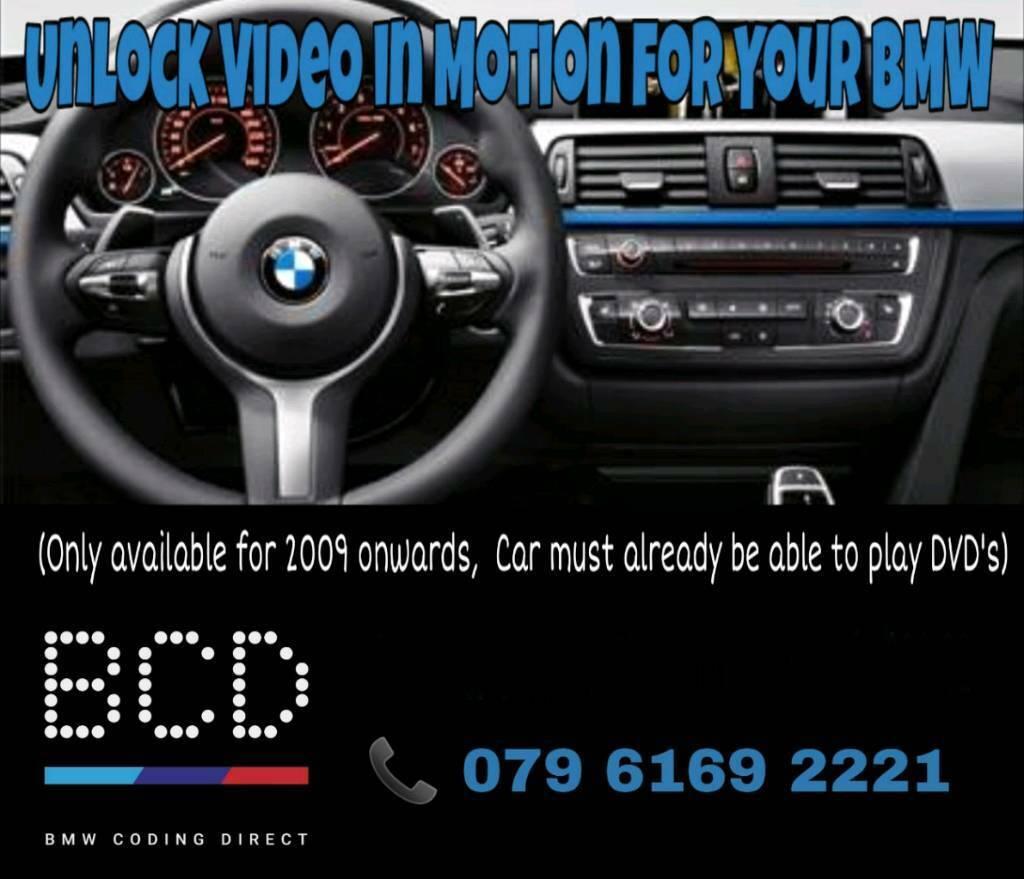 BMW VIDEO IN MOTION UNLOCK CODING | in Whitechapel, London | Gumtree