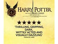 Harry Potter and the cursed child part 1 and 2 tickets x2