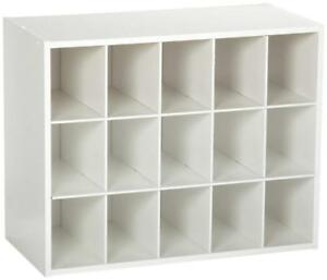 New ClosetMaid 8983 15-Cube Stackable Organizer, White (Pick-up Only) - DI12