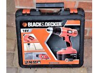 18v BLACK AND DECKER DRILL.