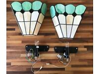 Two Tiffany style wall lamps