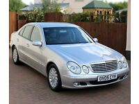Mercedes E Class Saloon, E220 CDi Diesel, Automatic, Full Service History, Brilliant Silver, Leather