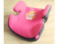 Disney Princess car seat booster Pink-grey