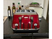 DELONGHI Micalite 4-Slice Toaster Red