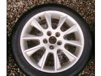Saab alloys 17 inch with tyres 225/45/17