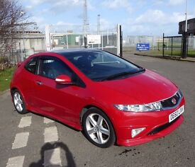 Honda Civic 1.8 i-VTEC Type S GT Hatchback 3dr, 138bhp, LOW MILEAGE, MOT until Jan 2018