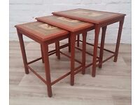 Danish Nest Of Three Tables (DELIVERY AVAILABLE FOR THIS ITEM OF FURNITURE)