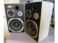 Tensai TS-9075 Large White Speakers in Great Condition