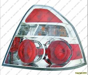 Tail Light Passenger Side Sedan Chevrolet Aveo 2007-2011