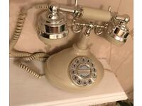 Vintage retro working telephone