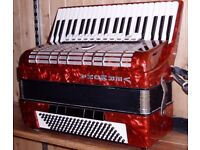 Weltmeister 120 bass full size accordion with case