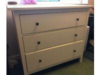 White gloss - Ikea Hemnes - Chest of Drawers